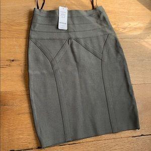 NEW HIGHWAIST Bebe small dark green bandage skirt